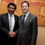 Deputy Prime Minster Nick Clegg and Leicesters most prominent business man and former Indian National Hockey player Amarjit Singh Kullar